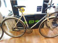"""Raleigh Pioneer mens XL large bike frame 22"""" drum brakes 5 speed rear hub"""