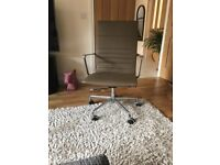 Stylish leather office chair in Taupe