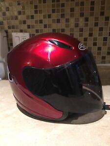 motorcycle helmet with extra lens!