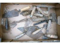 small lot of bricklayers trowels builder