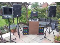Professional full set up Karaoke/disco gear