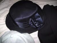 WEDDING HAT IN NAVY