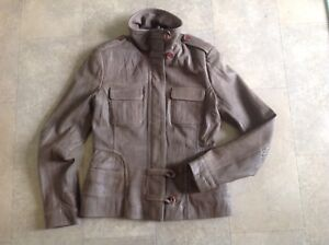 Danier Leather Bomber Jacket- Size Small