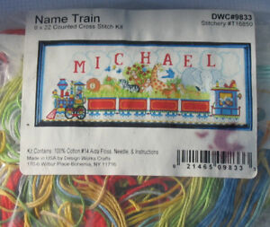 Name Train- counted cross stitch kit
