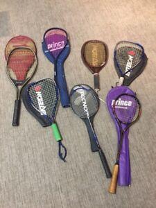 Tennis, badminton, squash and racquet ball