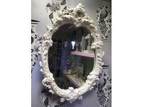 White French style mirror