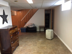 One Bedroom Basement Suite Available