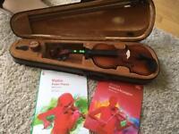 Toyama violin 3/4 with grade 4 books