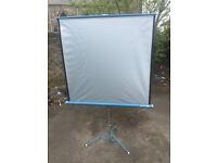 Super8 projector retractable screen