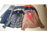 Good quality jackets and three skirts size 12-14
