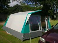 Tent with inner bedrooms