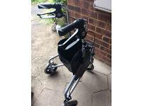 Mobilty tri walker with front basket