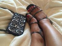 Bag & strappy sandals
