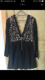 Missguided size 14 lace black dress