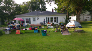 Yard sale. July 21, 22 and to. Large variety of items.