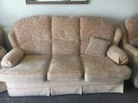 FREE TO UPLIFT 3 PIECE SETEE & 2 CHAIRS