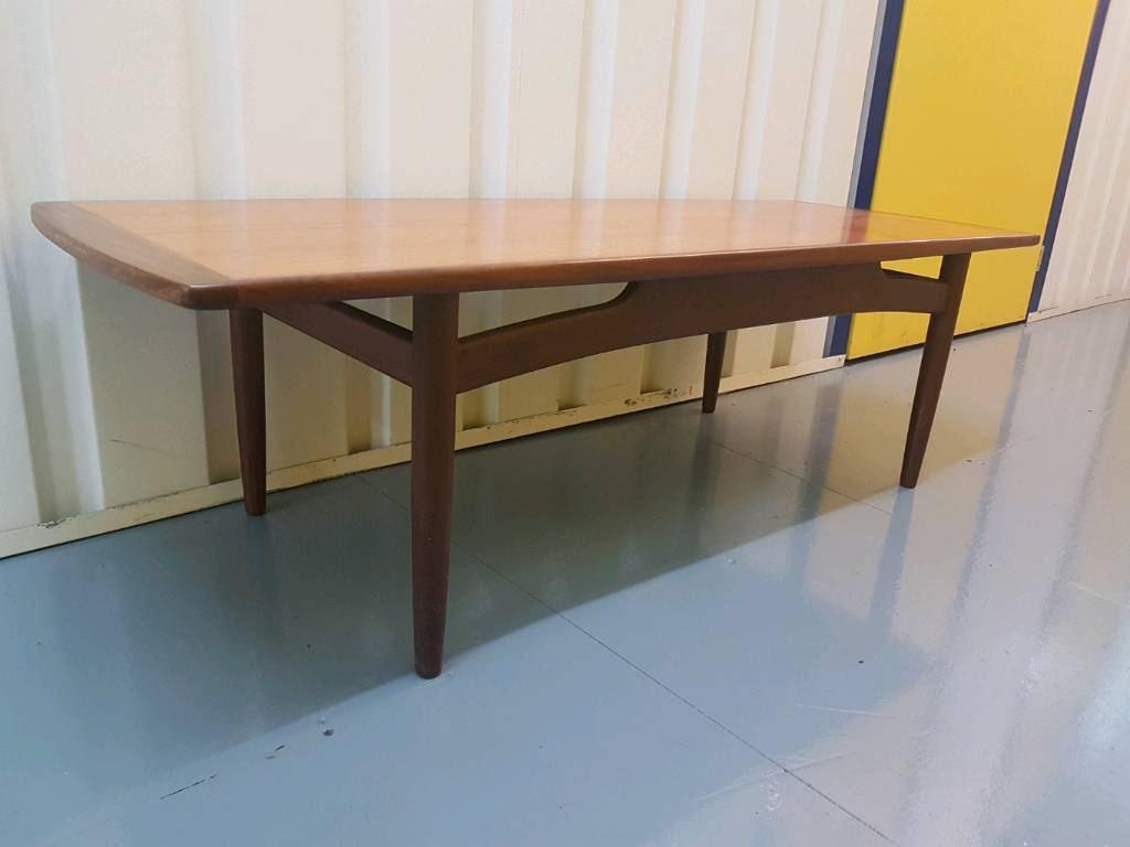 G Plan E Gomme Fresco Long John Coffee Table Teak Retro Vintage Rare