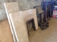 Fireplaces Various fireplaces, surrounds, grates and hearths for sale
