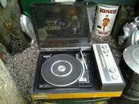 Vintage pye black box record player untested loft find