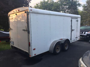 7 x 16 Enclosed Trailer for sale