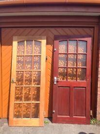 One external hardwood and two internal hardwood doors for sale