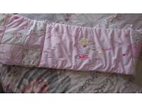 Baby girls cot bedding, Moses basket sheets etc