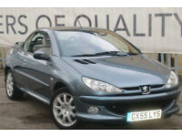 Peugeot 206 1.6HDi 110 2005MY Coupe Cabriolet Allure Stunning condition BARGAIN!