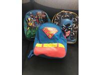 3 superhero children's bags