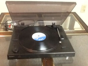 Sony turntable and pioneer remote tuner amp