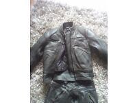 Motor bike leathers,ladies,jacket and pants