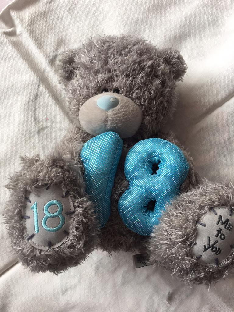 Me to You Teddybearin ManchesterGumtree - Me to You 18 Teddy Holding a 1 8 in blue and 1 8 stitching on his right food Immaculate condition
