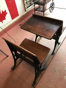 Antique School Desk and Chairs