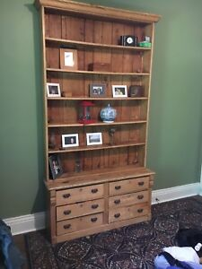 Book case. Two pieces shelves and drawers