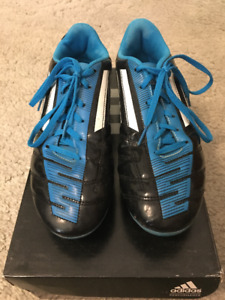 Adidas Blue and Black Outdoor Cleats (Men 7)