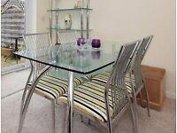 Glass/Chrome dining set