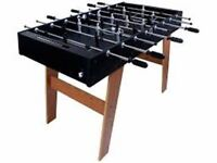 HY - PRO 4 FT FOOTBALL TABLE SMART BLACK / WOODEN LEGS. NEW.