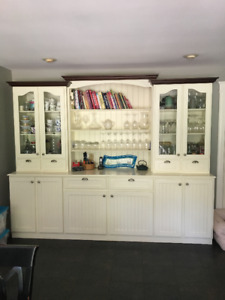 Large Beautiful Kitchen Display Hutch