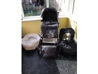 Silver cross linear freeway charcoal travel system including isofix car seat