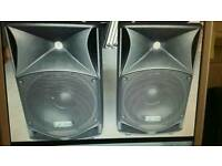 Pair of fbt 14a active speakers pro max with covers