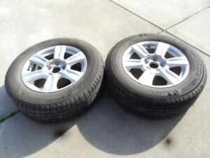 2 Michelin Tires with Rims for 2016 GMC Terrain