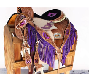 "Purple 15"" saddle"