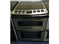 £190 Zanussi Steel 60cm Cooker - 12 Months Warranty