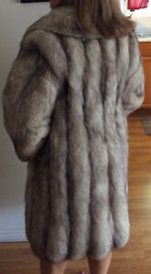 Genuine Wolf Fur Coat and Hat