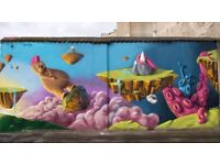 Professional Graffiti / Mural artist looking for free walls to paint
