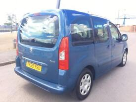 PEUGEOT PARTNER 1.6 TEPEE S HDI 5d 90 BHP VERY LOW INSURANCE AND T (blue) 2009