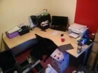L-Shaped desk for Sale . Going at a bargain offer
