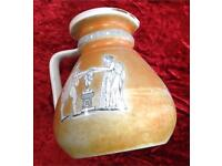 JUG GREEK SCENES GLAZED POTTERY