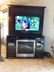 TV stand with fireplace  original price $1400.00