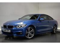 BMW 4 SERIES 2.0 420D XDRIVE M SPORT 2d AUTO 181 BHP (blue) 2014