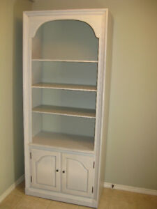 DISTRESSED PAINTED BOOKCASE